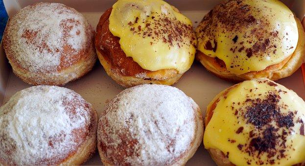 Doughnuts, Pastries, Baked Goods, Berlin, Bakery, Food