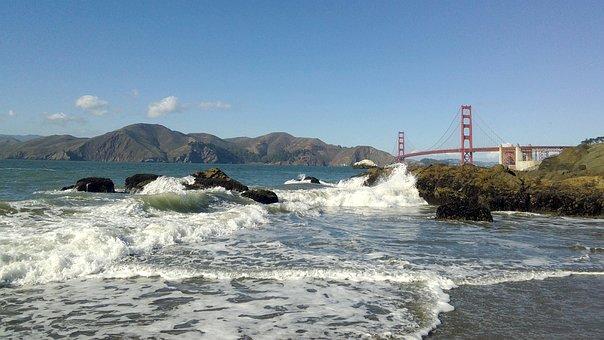 California, United States, San Francisco, Bridge, Bay