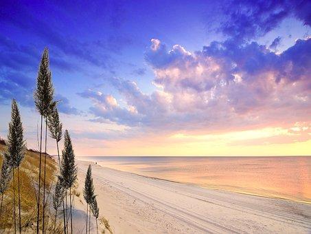 Beach, Sea, Ocean, Coast, Shore, Scene, Atmosphere, Sky