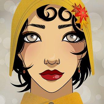 Woman, Beauty, Flapper, Roaring Twenties, Beautiful