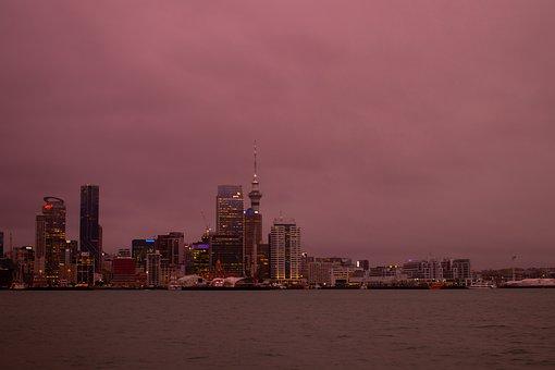 City, River, Skyline, Buildings, Skyscrapers