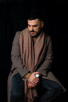 But Model, Man, Men Fashion, Man Portrait, Brown Coat
