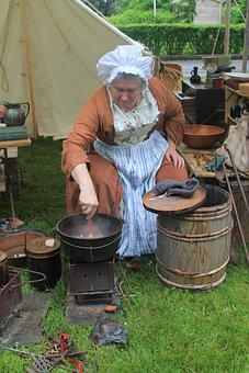 Camp, Cook, Colonial, Period, History, Cooking, Fire