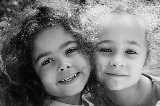 Friends, Sisters, Girls, Kids, Children, Childhood, Fun