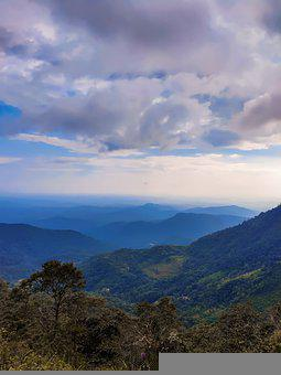 Bluesky, Clouds, Greenery, Valley, Altitude, Trees, Hdr