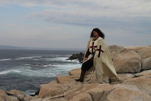Templar, Knight, Coast, Shore, Sea, Ocean, Waves, Armor