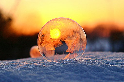 Bubble, Frozen, Winter, Snow, Cold, Ice, Ice Crystals