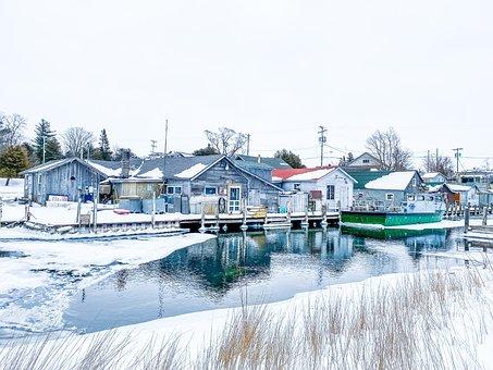 Village, Shanty, Fishing, Water, Fish, Community