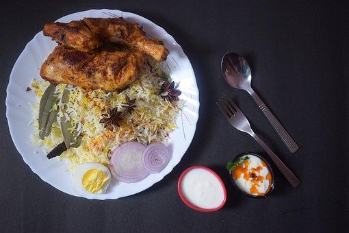 Biriyani, Food, Chicken, Egg, Delicious, Dinner, Eat
