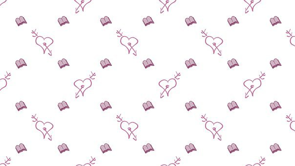 Digital Paper, Book, Love, Heart, Arrow, Pattern