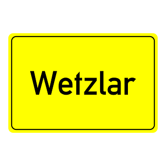 Wetzlar, Town Sign, Place Name Sign, Shield, Directory