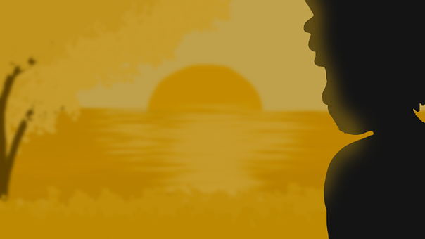 Sad, Silhouette, Dusk, Mood, Sunset, Loneliness