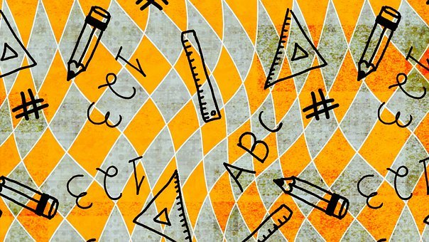 Education, Doodle, Background, Rhombus, Back To School