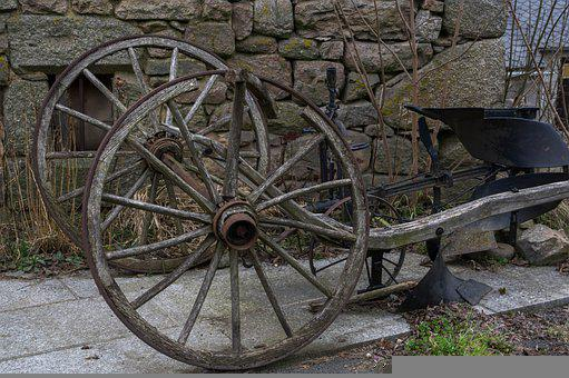 Wheels, Cart, Farm, Hitch, Plow