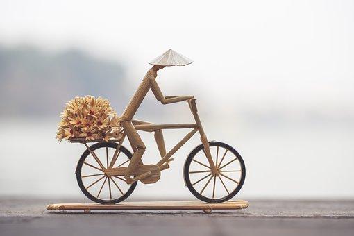 Biking, Figure, Handmade, Vietnamese, Bicycle, Delivery