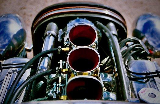 Speedster, Roadster, Race Car, Engine, Header, 1934
