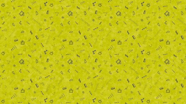 Internet, Doodle, Background, Pattern