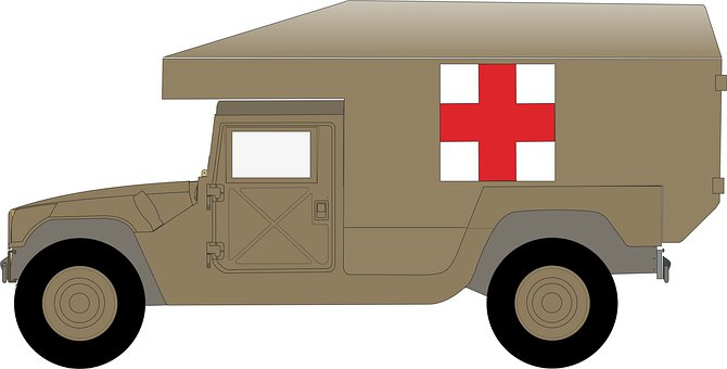 Medical Truck, Military, Vehicle, Rescue, Humvee
