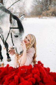 Model, Russia, Girl, Winter, Snow