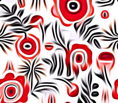 Abstract, Floral, Pattern, Background