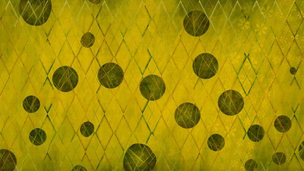Rhombus, Circles, Background, Pattern, Rhomboid