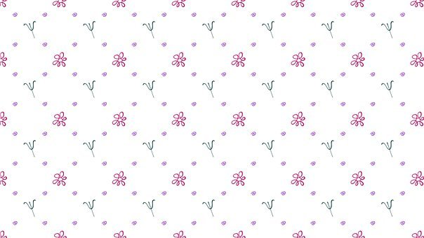 Flower, Psi, Pattern, Doodle, Background, Scribble
