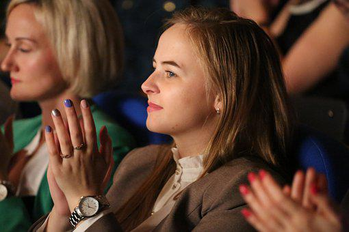 Woman, Clapping, Gesture, Girl, Person, Beautiful