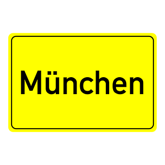 Munich, Town Sign, Place Name Sign, Shield, Directory