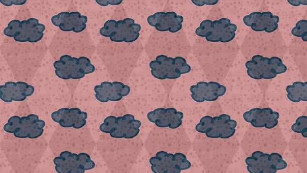 Cloud, Pattern, Background, Rhomboid, Rhombus, Diamond