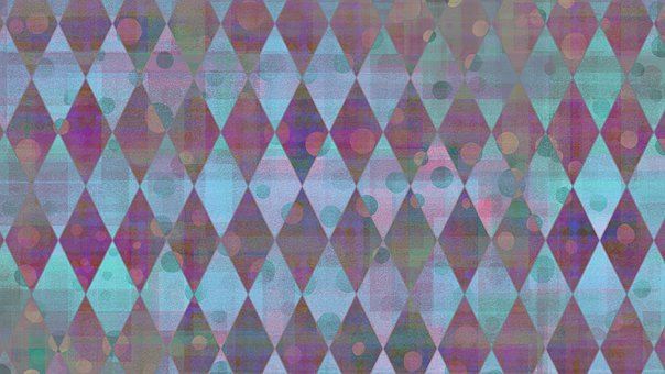 Rhombus, Pattern, Background, Dots, Circles, Rhomboid