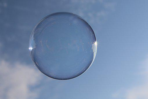 Round, Soap Bubble, Sky, Ball, Weightless, Float