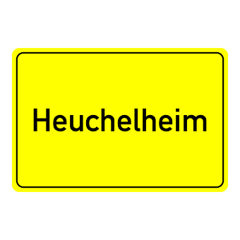 Heuchelheim, Town Sign, Place Name Sign, Shield