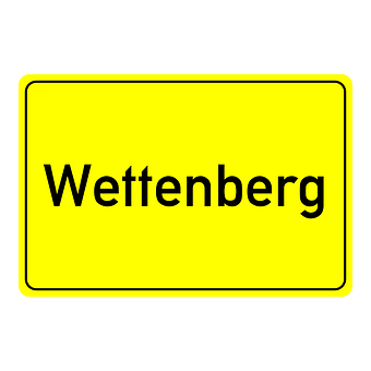 Wettenberg, Town Sign, Place Name Sign, Shield