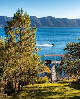 Lake, Jet Ski, Pier, Speed, Sky, Recreation, Fun
