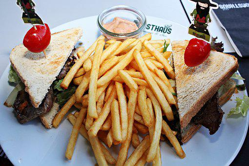 Steak, Toast, Steaktoast, French, Fries, Tomatoes