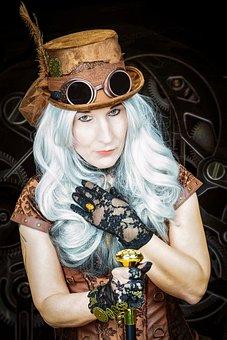 Steampunk, Lady, Victorian, Vintage, Woman, Fashion