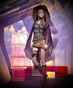 Cyborg, Sci Fi, Robot, Synthetic, Woman, Girl, Plastic