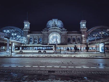 Travel, Center, Travel Center, Germany, Dresden, Night