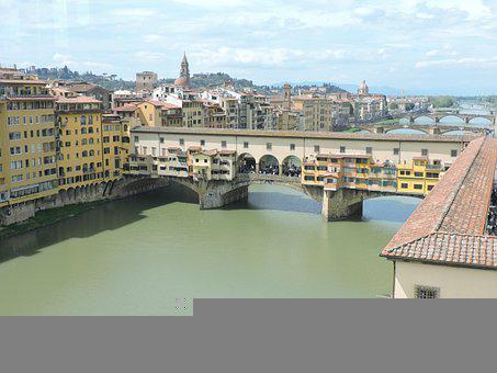 Bridge, Firenze, Florence, Tuscany, Architecture, River