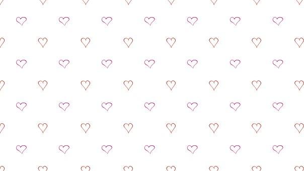 Digital Paper, Heart, Valentine, Pattern, Background