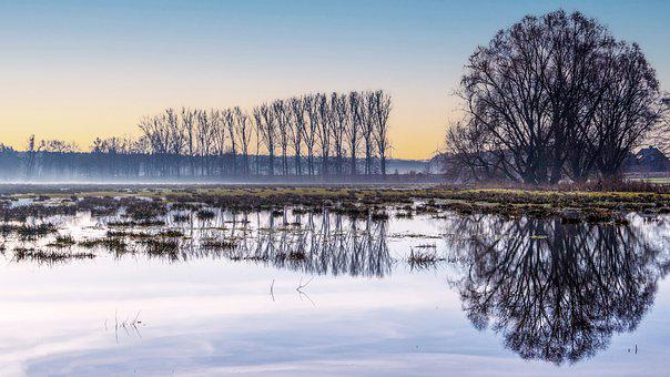 Sunrise, River, Nature, Morning, Water, Landscape, Lake