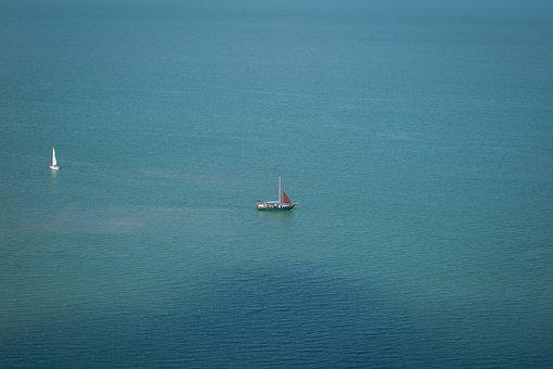 Lake Balaton, Hungary, Sailing, Lake, Water, Summer