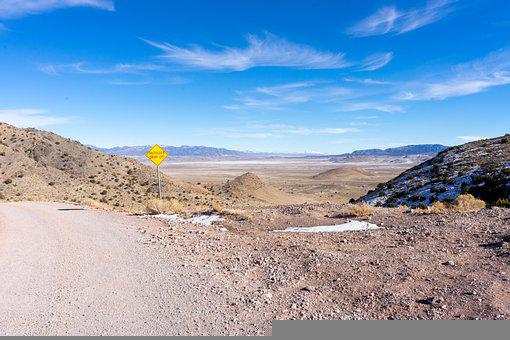 Desert, Landscape, Dry, Hot, Road, Nature, Arid