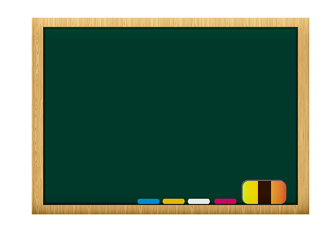 Chalkboard, Chalk, Eraser, Classroom, Frame, Blackboard