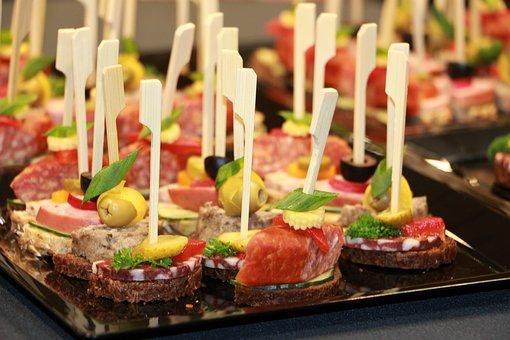 Finger Food, Eat, Chunks, Catering, Buffet, Bruschetta