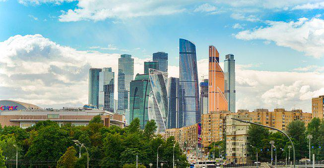 Moscow, Moscow City, Skyscraper, Russia, Business
