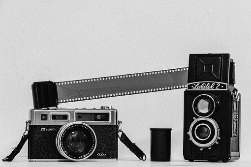 Camera, Video, Film, Movie, Cinema, Black, Photography