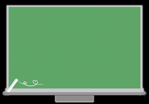Chalkboard, Chalk, Classroom, Frame, Green, Education