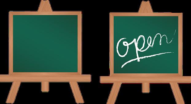 Chalkboard, Easel, Eraser, Sign, Green, Classroom