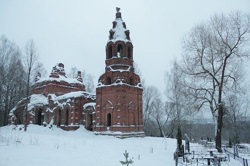 Church, Winter, Snow, Architecture, Building, Orthodoxy